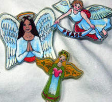 Angel Pins and Button Fairies